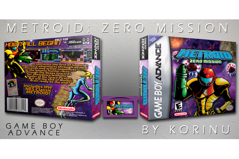 Metroid: Zero Mission Game Boy Advance Box Art Cover by Korinu