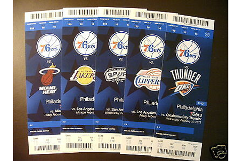 Philadelphia 76ers 2012 NBA ticket stubs - One ticket | eBay