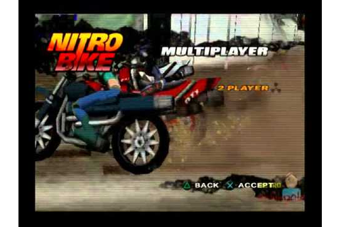 Nitro Bike PS2 Multiplayer Gameplay (UBISoft) Playstation ...