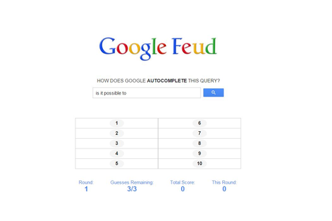 Google Auto-Complete Turned Into a Game: Google Feud