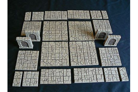 Painted-resin-dungeon-floor-plans-tiles-Dungeons-and ...