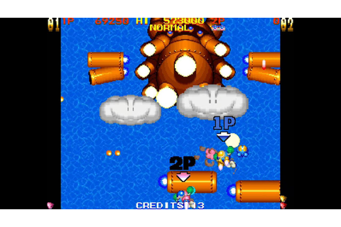 TwinBee Yahho! 2 player Netplay arcade game - YouTube