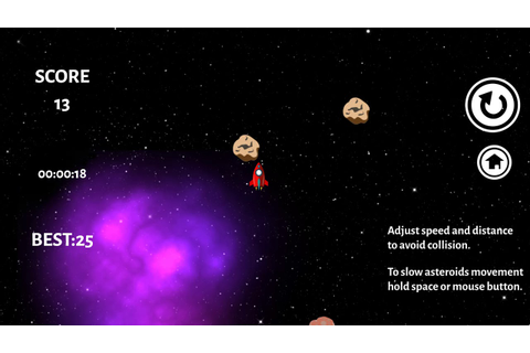 Asteroids Game - YouTube