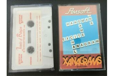 JEWELS OF BABYLON & XANAGRAMS - Amstrad CPC 464 - 2 x ...