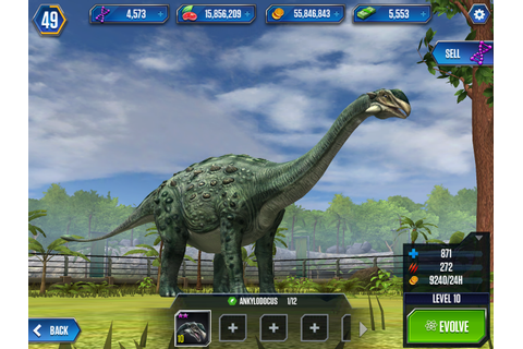 Ankylodocus, a hybrid in Jurassic World: The Game ...
