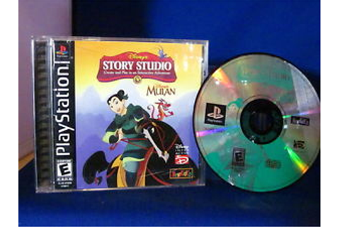 Sony PlayStation PS1 Disney's Story Studio Mulan Video ...
