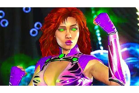 INJUSTICE 2 Starfire Gameplay (Comic-Con 2017) - YouTube