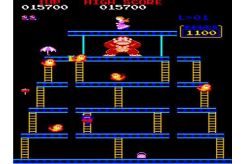 Donkey Kong (Original) Full Playthrough (JP Arcade Version ...