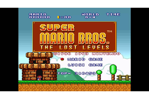 SNES Super Mario Bros. The Lost Levels Theme - YouTube