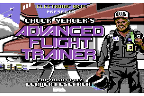 Chuck Yeager's Advanced Flight Trainer - Commodore 64 Game ...