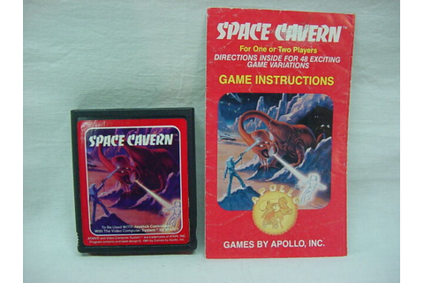 SPACE CAVERN Atari 2600 Game COMPLETE w/ Correct Manual ...
