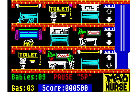 Mad Nurse (1987) by Firebird ZX Spectrum game