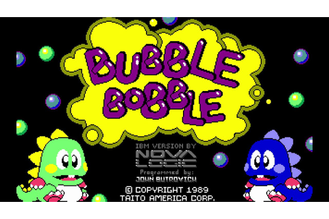 LONGPLAY: Bubble Bobble - NO DEATHS! (1991) [MS-DOS] - YouTube