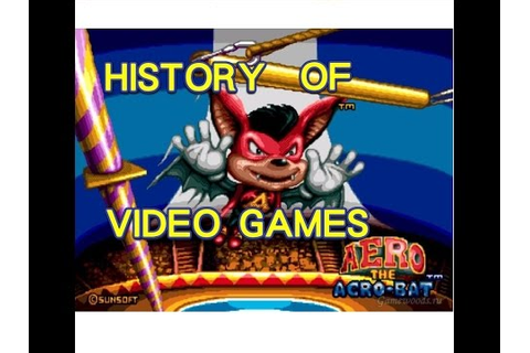History of Aero the Acro-Bat (1993-2002) - Video Game ...