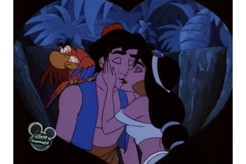 Image - Aladdin & Jasmine - Moonlight Madness Kiss (2).jpg ...
