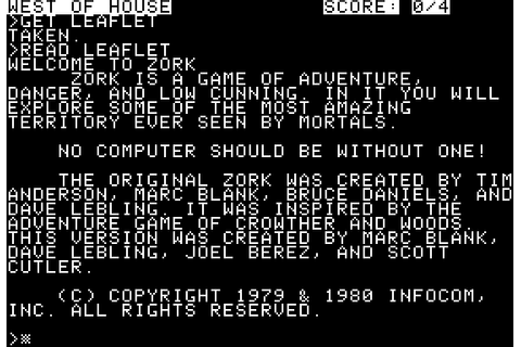 Zork: The Great Underground Empire - My Abandonware