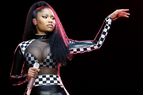 Rapper Nicki Minaj performs in concert during X Games ...