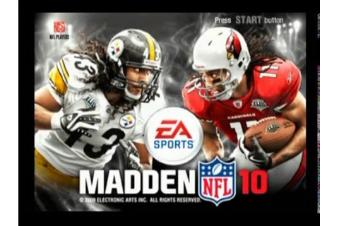 Madden NFL 10 ... (PS2) - YouTube