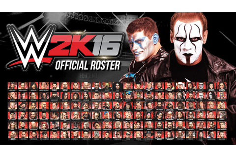 WWE 2K16 Official Roster - All 126 Superstars & Divas ...