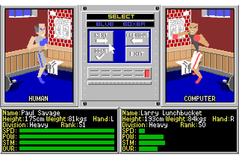 4D Sports Boxing : The Company - Classic Amiga Games