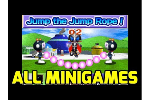 Bomberman Max 2 (GBA) - All Minigames (Both Characters ...