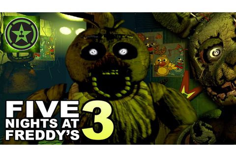 NIGHTS 3 & 4 - Five Nights at Freddy's 3 - Part 2 - YouTube