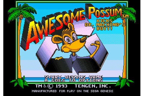 Awesome Possum Kicks Dr Machino's Butt! (1993) by Tengen ...