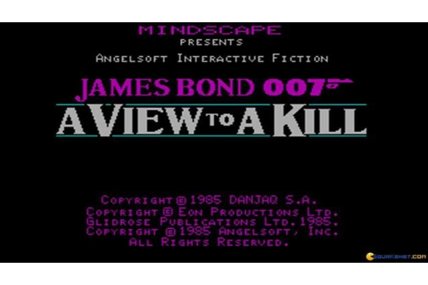 007 A View To A Kill gameplay (PC Game, 1985) - YouTube