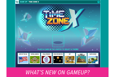 New Game on GameUp - Time Zone X | BrainPOP Educators