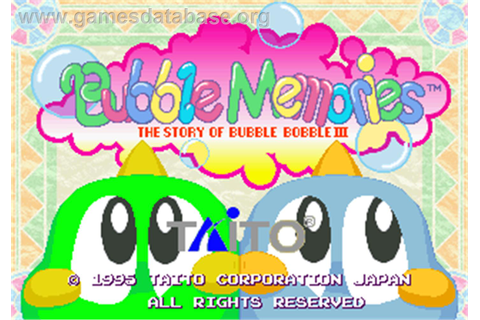 Bubble Memories: The Story Of Bubble Bobble III - Arcade ...