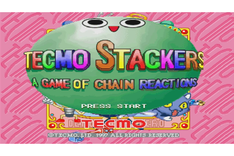 Tecmo Stackers (a game of chain reactions) -gameplay- (PS1 ...