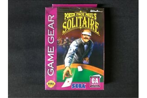 Poker Face Paul's Solitaire (Sega Game Gear, 1994) Brand ...