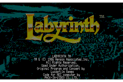 Labyrinth: The Computer Game (1987) NEC PC8801 game