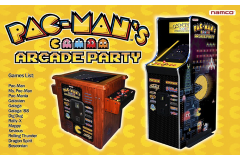 Namco Pac-Man''s Arcade Party Video Game Cabaret Cabinet ...