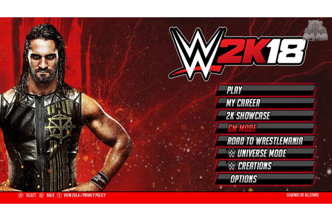 WWE 2K18 PS3 & Xbox 360 Main Menu Demo | GM Mode, Game ...