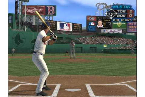 MLB 06 The Show (PLAYSTATION 2) Toronto vs Boston - YouTube