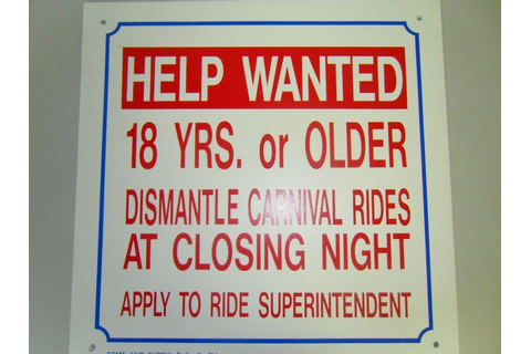 Help Wanted Sign | Fun and Games | Help wanted, Signs ...