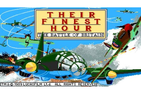Their Finest Hour: The Battle of Britain gameplay (PC Game ...