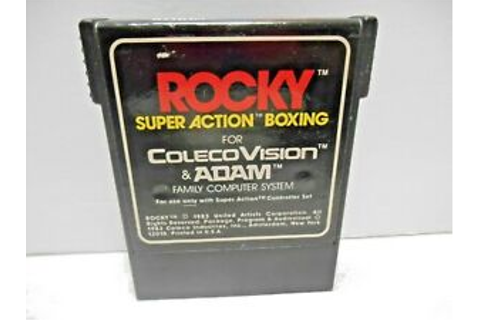 ROCKY SUPER ACTION 1983 BOXING COLECOVISION & ADAM VIDEO ...