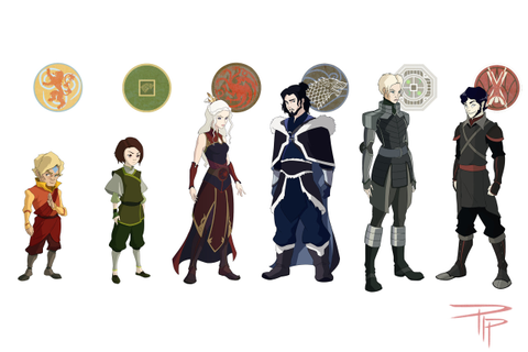 anime animation atla game of thrones mashup A Song of Ice ...