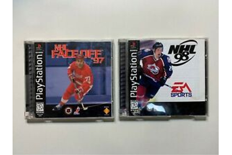 2 Game Lot NHL Faceoff '97 + '98 Hockey Complete CIB ...