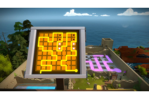 The Witness The Keep(Hedge) and Pressure Pad Maze Puzzle ...