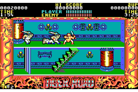 Tiger Road (1989) by U.S. Gold / Erbe Software MS-DOS game