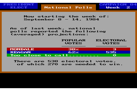 Download President Elect: 1988 Edition - My Abandonware