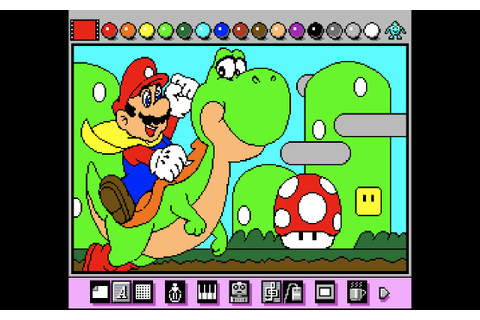 evenings with (old) games: Mario Paint