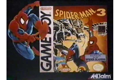 1993 Game Boy Spider-Man 3: Invasion of the Spider-Slayers ...