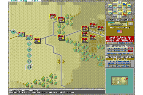 Wargame Construction Set II: Tanks! (1994) MS-DOS game