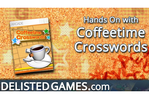 Coffeetime Crosswords - Xbox 360 (Delisted Games Hands On ...