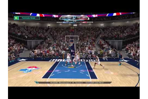 NBA 2K10 - My Player - All-Star Game - YouTube