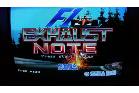 Sega F1 Exhaust Note Arcade